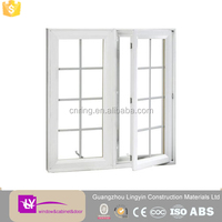 standard sizes inward opening casement window with tempered glass hot sale