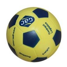 popular cheap logo printed soccer shape pu stress ball