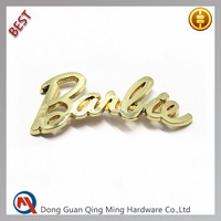 Custom Small Gold Metal Plate Logo For Handbags