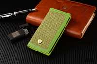 Colourful fabric case, checkered fabric design case, wallet cover for iphone
