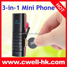 BTphone D1 Mini Phone Bluetooth Dialor,Bluetooth Headset 3-in One Quad Core Very Small Mobile Phone