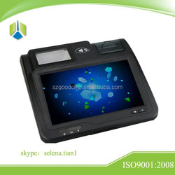 Portable design with 3G/WIFI/Ethernet/Bluetooth network wireless payment machine ----Gc039B