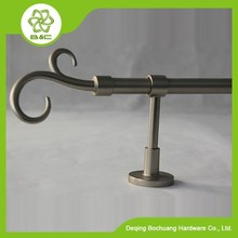 BC701 HOT top sell aluminum double round curtain rods/curtain pole/aluminum curtain finial