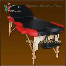 Factory supply luxury solid wood Low weight massage table