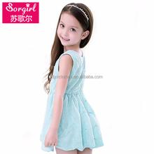 Crianças vestido de roupas China moda branca inchado vestidos para meninas 11 anos