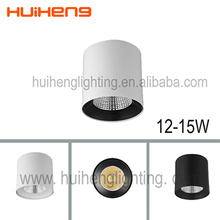LED cree Surface Mounted Black or White Led Downlight for Hotel Commercial Using