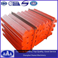 High Manganese Steel Casting Jaw Crusher Spare Parts Jaw dies movable jaw plate
