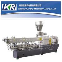 filler masterbatch air cooling hot face Twin screw plastic cutter machine