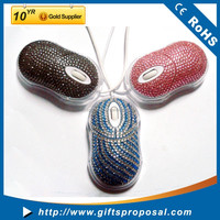 Super Cute For Girls 3D Optical Mouse Bling Bling Mini Mouse Wired Mouse for Laptop PC and Computer