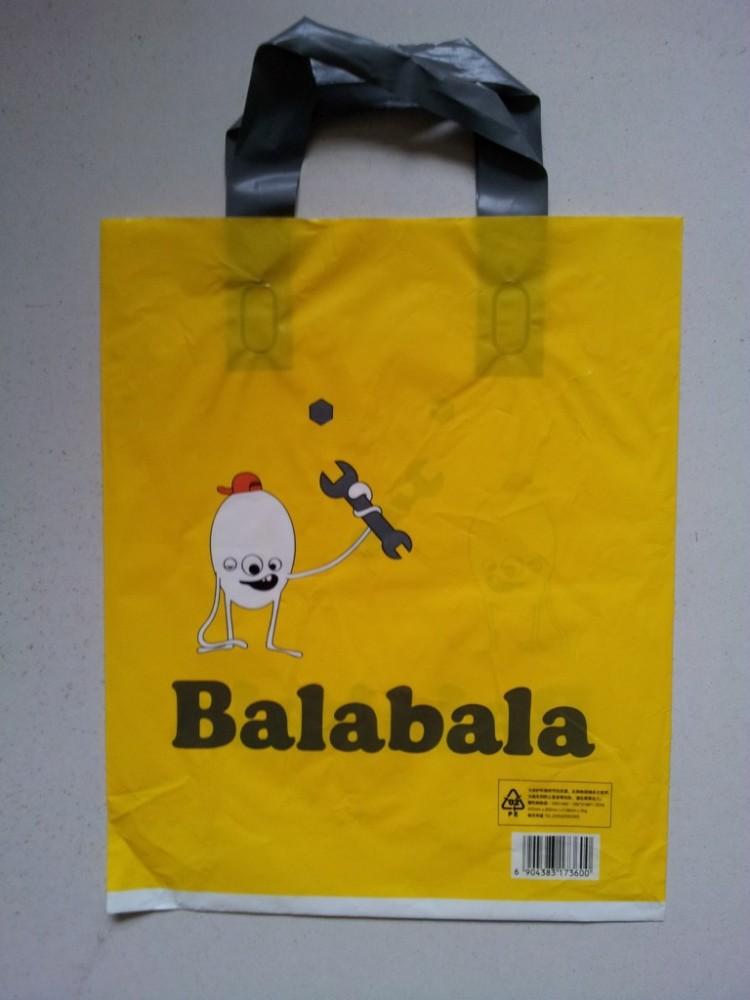 Preço de fábrica saco de embalagens de plástico com alça