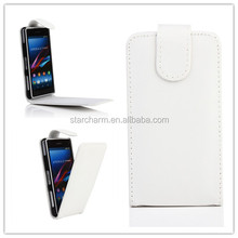 China Ali hot selling leather mobile phone case for Sony ZL compact