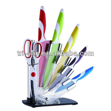 6PCS Color Knifes Set Kitchen With Stand