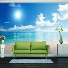 Simple style decor spring scenery wall mural