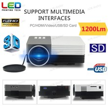 Multimedia Projector Home Theater Video Games Gaming Business Presentations HDMI/USB /VGA/Micro SD/TV Port