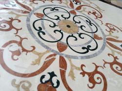 High polished floor flower tiles design, cheap waterjet tile