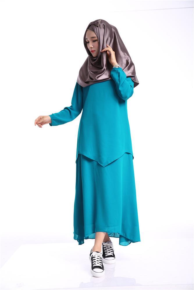 Abaya Malaysia Muslim Women Dress Chiffon Long Sleeve Fashion ...