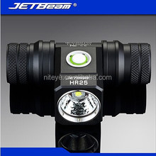 Professional designed military standard anodising aluminum 18650 xml t6 led headlamp
