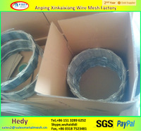 PVC coated BTO-18 spiral cross stainless steel concertina razor barb wire/razor wire