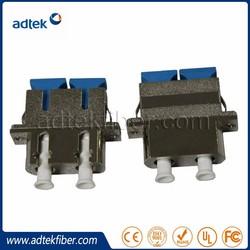 Duplex Metal SM SC LC Hybrid Fiber Optical Adapter