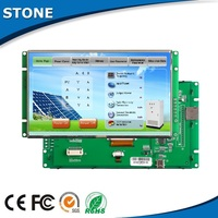 "7"" TFT Serial LCD with colorful touch panel for Machinery HMI"