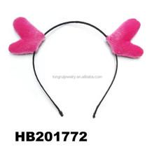 kids warmer fur animal deer ear metal headband
