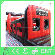 red black sight inflatable water slide for sale