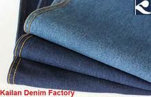 Kl-330 de algodón de mezclilla tela para pantalones vaqueros