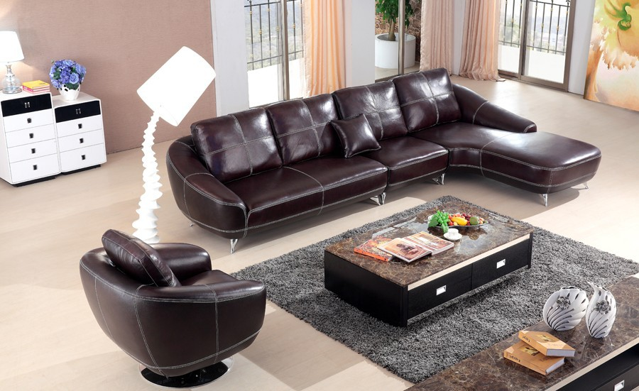 2015 New Design Sectional Sofa Leather Sofa Set Living Room Furniture Costco Sofa 9129 Buy