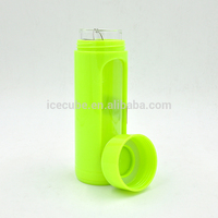 wholesales clear glass bottle silicone sleeve, protective sleeves for glass bottle