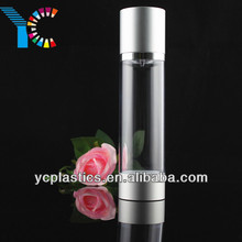 Small Mouth Empty Lotion Airless Pump Aluminum Travel Bottles