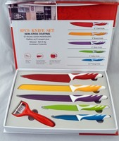 5 Pcs + Peeler + Color box Kitchen Knife Set Stainless Steel Knife Color Knife