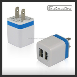 2 Port USB Wall Charger 5V 2.1A for iPad