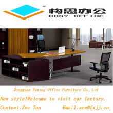luxury new design MFC/MDF steel leg panels office furniture wooden ikea executive desk