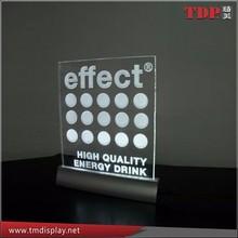 Manufacturer supplies elegant laser engraving acrylic led sign