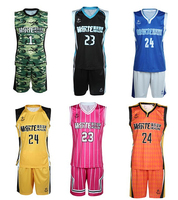 cheap wholesale best reversible basketball uniforms design