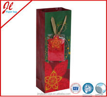 Qualified Custom Paper Bags for Wine Bottle with handle from factory