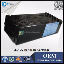 China Golden Suppliers Refill inkjet cartridge for Roland VersaUVLEC-640 with Permanent Chip