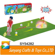 Kids flashing golf ball play game set sport toys