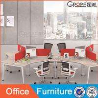 6 seater office open desk workstation standard office furniture dimensions