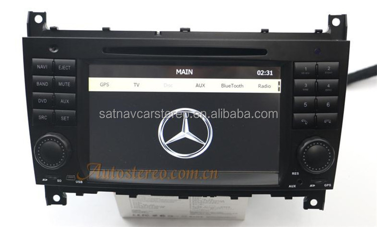 Autostereo car audio system for mercedes c class w203 car for Mercedes benz c300 sound system