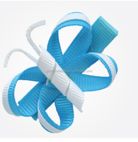 wholesale hair bows holder for kids/butterfly printed ribbon/