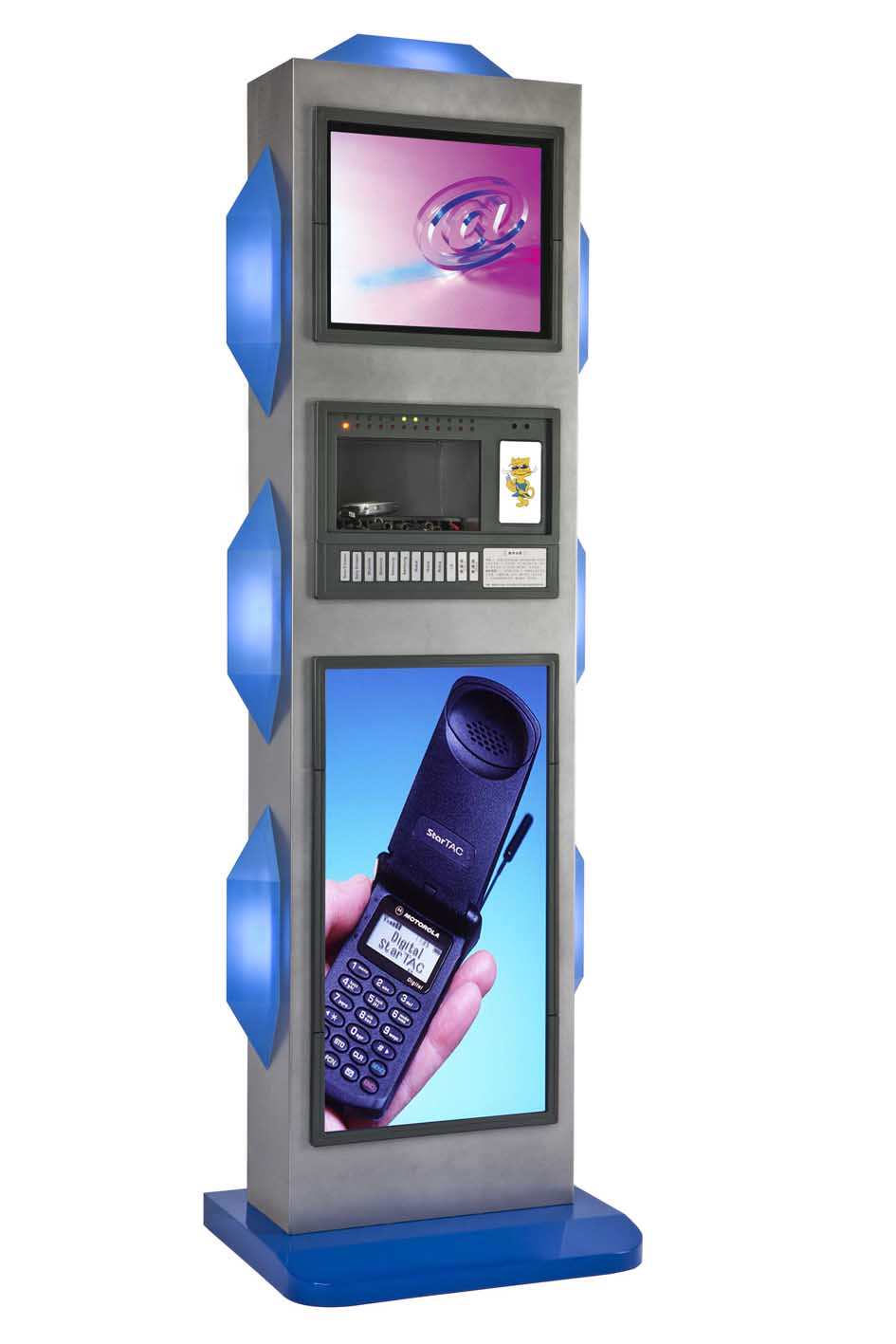 Charging station for cell phones adverting function mobile Cell phone charging station