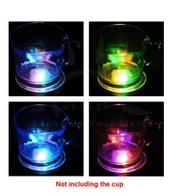 2015 factory price christmas ornaments wedding decorataions LED light up drinking cup coaster