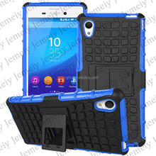 2 in 1 PC+ TPU Hybrid Shockproof phone case For Sony Xperia M4 Heavy Dustproof cover bag