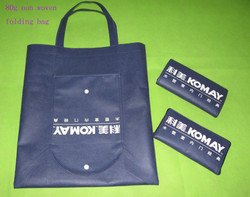 Recycled non woven foldable shopping bag