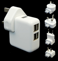 AU EU US UK 4 USB 2A Wall Charger For iphone 6/S5 Note 4 Note 3/ipad air etc