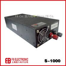 battery,1000W 12V DC 83A Single Output power supply, transformers 230v- 110v 1000w for Led Strip,No.S-1000-12