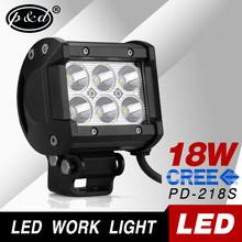 Hot selling CREEs off road led light bar 18W 6 leds led work light