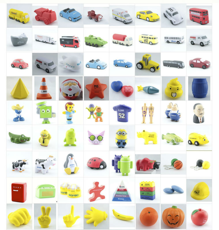 Various Sizes and Designs Promotional Pu Foam Anti Stress Ball
