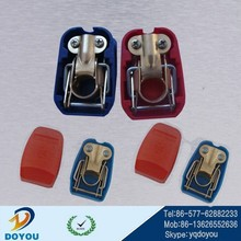 Spring type Couple automotive red blue battery terminal with cap